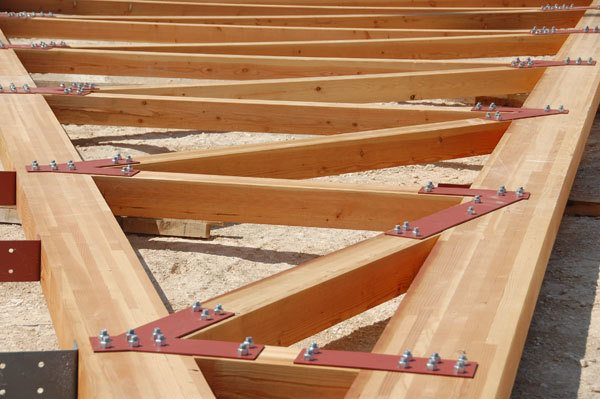 Laminated Wooden Truss ~ Rosboro beam column architectural grade appearance